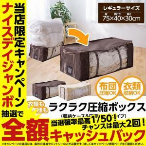 衣類も布団もラクラク圧縮ボックス(収納ケース&圧縮袋合体タイプ)レギュラーサイズ niceday