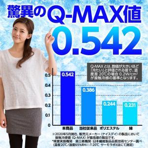 敷きパッド ひんやり 史上最強のいちばん冷たい クール 敷パッド Q-MAX0.5 強力接触冷感 ひんやりマット 冷却マット 夏物 セミダブルサイズ SD|niceday|04