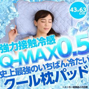 『強力接触冷感 Q-MAX0.5 史上最強のいちばん冷たい 枕パッド』|niceday
