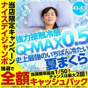 枕 まくら ひんやり 史上最強のいちばん冷たい クール 快眠 夏まくら 父の日 Q-MAX0.5 強力接触冷感 冷却マクラ 夏物 洗える 抗菌 防臭 43×63cm  頚椎安定加工|niceday