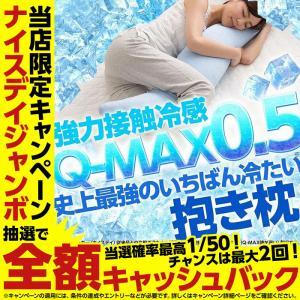 抱き枕 ひんやり 史上最強のいちばん冷たい クール抱き枕  30×120cm 強力接触冷感 Q-MAX0.5 夏物 抗菌 防臭 カバー脱着式で洗える 選べる10色|niceday