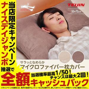 テイジン さらっとなめらかマイクロファイバー 枕カバー(ヨーロピアンサイズ)50×70cm niceday