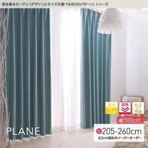 窓を飾るカーテンシリーズ ベーシック無地 PLANE(プレーン)幅100cm×丈205〜260cm(2枚 ※5cm刻み) 遮光2級 遮熱 保温 niceday