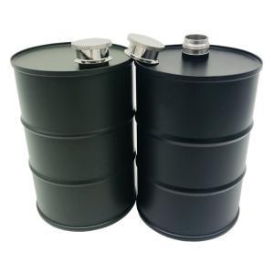 スキットル ステンレス 大容量730ml ドラム缶型 かっこいい ウィスキー 2カラー