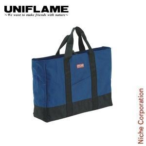 ユニフレーム製品の収納向けトートバッグ      ・軽く強靭な600デニールポリエステルに、汚れに強...