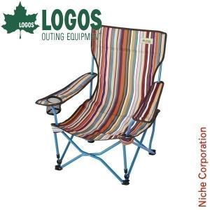 ロゴス ストライプヒーリングチェア・ポケットプラス ( 73173014 ) キャンプ用品|niche-express