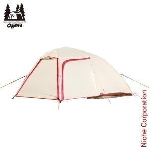 オガワキャンパル ( ogawa ) ステイシーネスト (クリーム×レッド)  2617 キャンプ用品 アウトドア用品|niche-express