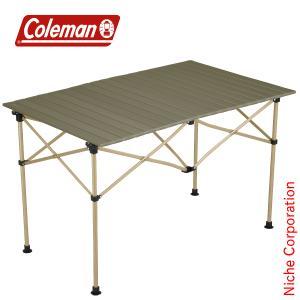 【連休中休まず出荷】 コールマン イージーロール2ステージテーブル/ 110 (オリーブ)  2000034679 キャンプ用品|niche-express