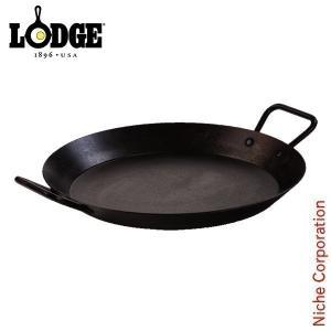 LODGE ロッジ シーズンスチールスキレット 15インチ CRS15 キャンプ用品 鉄分 がとれる 鉄鍋 てつなべ niche-express