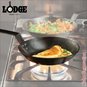 LODGE ロッジ シーズンスチール スキレット 8インチ CRS8 キャンプ用品 鉄分 がとれる 鉄鍋 てつなべ niche-express