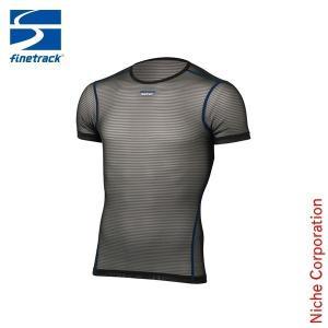 ファイントラック finetrack パワーメッシュT MEN'S (ブラック)  FUM0812(BK) アウトドア用品|niche-express