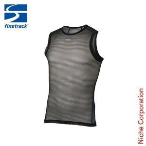 ファイントラック finetrack パワーメッシュノースリーブ MEN'S (ブラック)  FUM0816(BK) アウトドア用品|niche-express