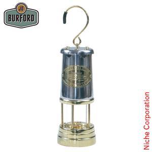 JDバーフォード マイナーズランプ Lサイズ ニッケル&ブラス 29854 ランタン オイルランプ キャンプ用品|niche-express