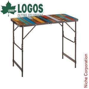 【連休中休まず出荷】 ロゴス テーブル グランベーシック 丸洗いカウンター アウトドア 机|niche-express
