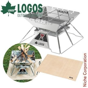 ロゴス the ピラミッドTAKIBI XL+たき火台シート2点セット  LGS0-R14AI037 キャンプ用品|niche-express