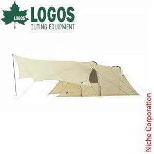 キャッシュレスポイント還元 ロゴス グランベーシック トンネルドームXL-AG&BIGオクタゴン-AG セット  R11AG005 キャンプ用品|niche-express