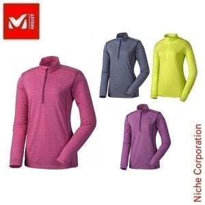 ミレー アローザ ジップ LS : MIV01126 Women's MILLET ミレー 女性用 ロンT 長袖dis-out アウトドア用品 niche-express