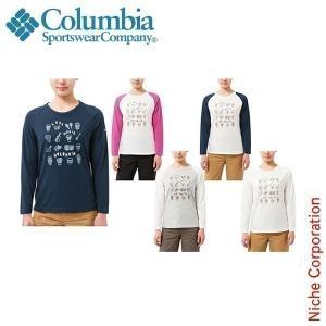 コロンビア ウィメンズエークテケグレイシャーTシャツ 女性用 PL2172 アウトドア用品|niche-express