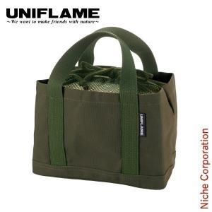 ユニフレーム チビパンケース カーキグリーン 661345 トートバッグ  キャンプ用品|niche-express