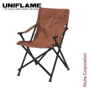 ユニフレーム UFチェア100 ブラウン  680322 キャンプ用品 アウトドア用品 niche-express