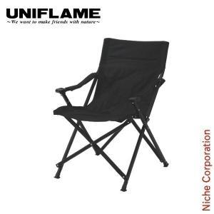 ユニフレーム UFチェア100 オールブラック  680339 キャンプ用品 アウトドア用品 niche-express