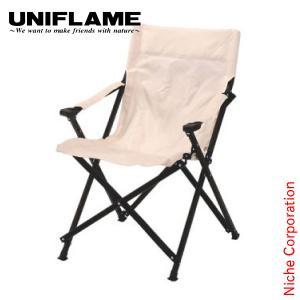 ユニフレーム UFチェア100 アイボリー  680346 キャンプ用品 アウトドア用品 niche-express