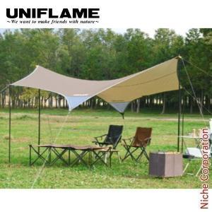 ユニフレーム REVOタープII (M) TAN  681800 キャンプ用品|niche-express