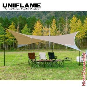 ユニフレーム REVOタープII (L) TAN  681886 キャンプ用品|niche-express