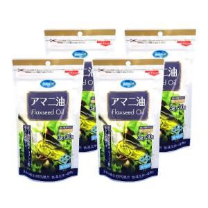 朝日 アマニ油 分包タイプ (3g×30袋)×4セット 【メール便専用品】【送料無料】 低温圧搾 オメガ3 持ち運びに便利 [01] NICHIGA(ニチガ)|nichiga