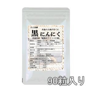 発酵黒にんにく粒 90粒(22.5g) 【メール便専用品】【送料無料】 約1ヶ月分 [01]|nichiga