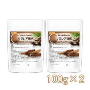 サラシア粉末 100g×2袋(計量スプーン付) 国内加工殺菌品 [02] NICHIGA ニチガ|nichiga