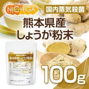 熊本県産しょうが粉末 100g(スプーン付) 国内蒸気殺菌 生姜パウダー100% [02]|nichiga