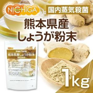 熊本県産しょうが粉末 1kg(スプーン付) 国内蒸気殺菌 生姜パウダー100% [02] NICHIGA ニチガ|nichiga