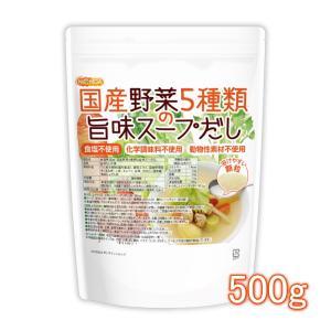 食塩無添加 国産野菜5種類の旨味スープだし 500g(計量スプーン付) 【メール便専用品】【送料無料】 [01]|nichiga