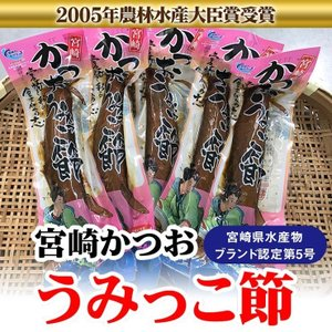 宮崎かつおうみっこ節 3L 1袋1本 約185g 宮崎県水産ブランド認定 贈りものギフトに 日南市漁協女性部 冷蔵発送|nichinan-tv