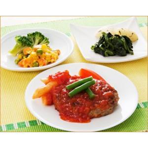 気くばり御膳 トマトソースハンバーグセット【冷凍】 ニチレイフーズ nichireifoods