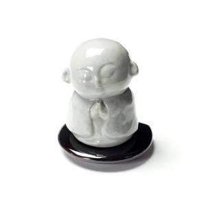 柔和な顔 お地蔵様 合掌香炉 地蔵菩薩像|nichirin