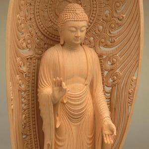 阿弥陀如来像 特別仕立 5.5寸 中国工芸美術大師 人間国宝仏師製作 |nichirin