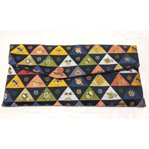 念珠袋 珠数袋 伝統和柄 鱗紋宝尽くし 西陣織高級金襴 京都職人仕立 メール便対応|nichirin