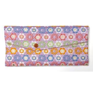 念珠袋 珠数袋 伝統和柄 花づくし 西陣織高級金襴 京都職人仕立 メール便対応|nichirin