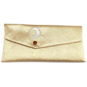 数珠袋 ヨコ型 日月紋入 金色 銀刺繍 メール便対応|nichirin