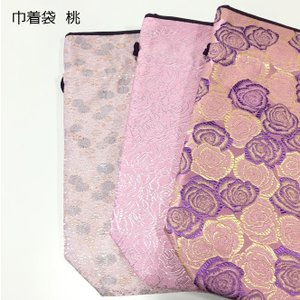 【メール便対応】 巾着袋 桃|nichirin