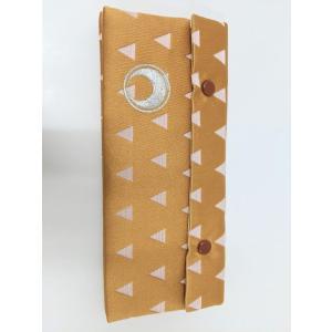 経典カバー 伝統和柄 三角うろこ 日月紋入 銀刺繍 メール便対応 nichirin