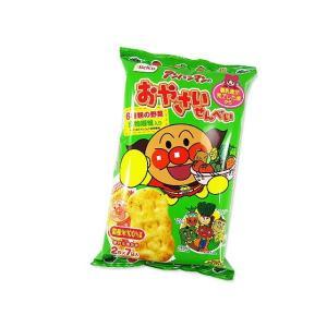 お菓子 業務用 まとめ買い 幼児向けのお菓子 栗山米菓 アンパンマンのおやさいせんべい 2枚×6袋 (12個入)|nichokichi
