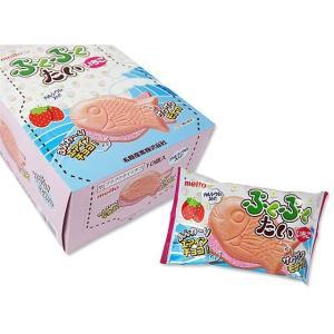駄菓子のまとめ買い・チョコ系の駄菓子 名糖 ぷくぷくたい いちご (10個入)|nichokichi