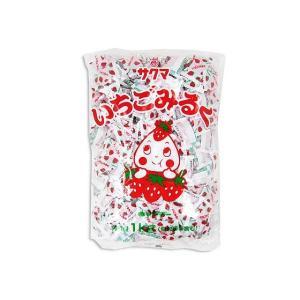 お菓子のまとめ買い・キャンディ系のお菓子 サクマ 業務用 いちごみるく キャンディ 1kg|nichokichi