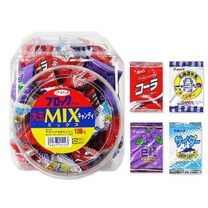 駄菓子のまとめ買い・飴・キャンディ系の駄菓子 アメハマ 大玉ミックス キャンディ(100個入)|nichokichi