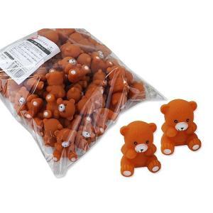 水に浮く ぷかぷか 笛付き クマさん(大)人形 (50個入)景品 販促品 お祭り 縁日すくい スーパーボール すくい|nichokichi