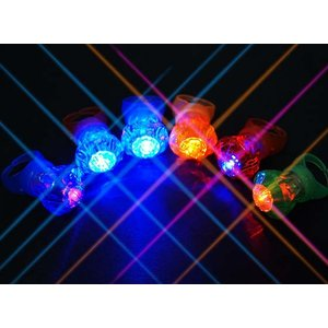 光る クリスタルリング 36個入 光るおもちゃ・指輪 不良返品不可 子供会 景品 販促品 お祭り 縁日用品|nichokichi
