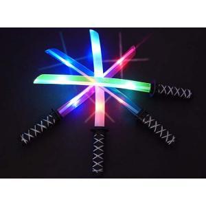 光る 音付き 日本刀(12個入)光るおもちゃ 刀 剣  景品 子ども会 子供会 縁日 アクセサリ 不良返品不可|nichokichi